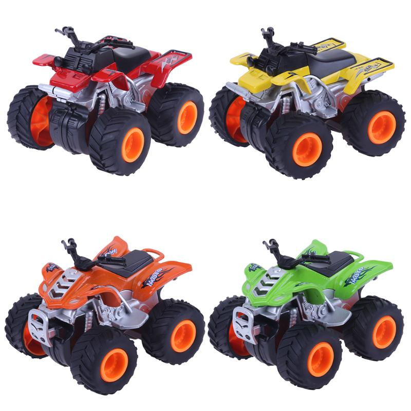High Simulation Mini Alloy Beach Motorcycle Toy 360 Degrees Rotation 4 Wheel Inertial Car Model Baby Kids Toy Vehicle Birth Gift