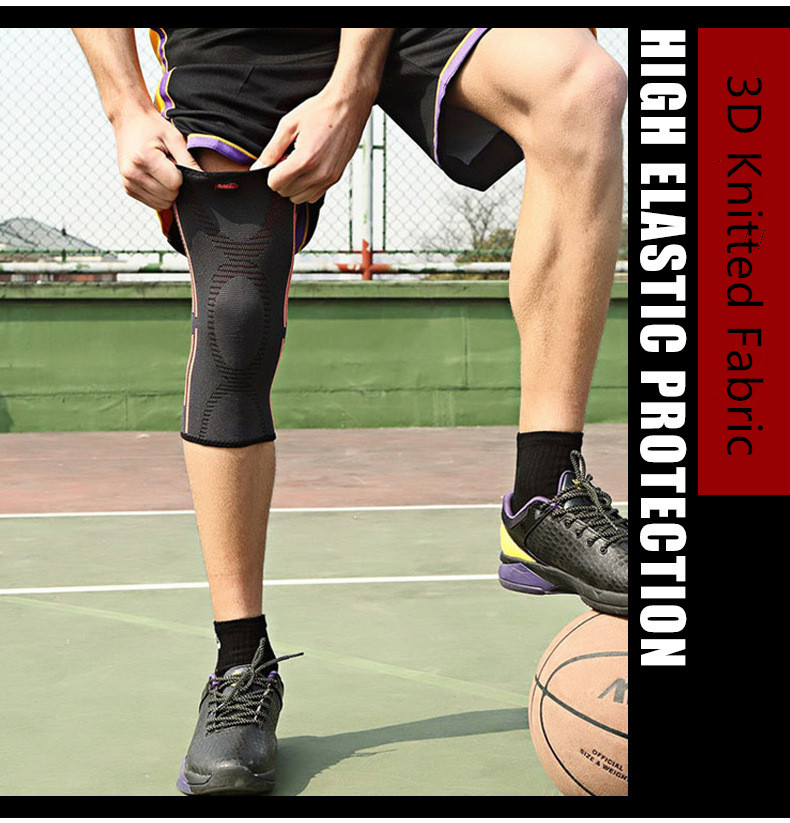 1pcs Knee protector Breathable warmth Sports Basketball knee pads Safety Tactical Training elastic bandage Personal Knee protect knee gasket knee pads professional safety protecto