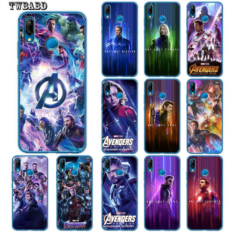 Adroit Captain Marvel Iron Man Captain America Coque For Huawei P30 Lite P30 Pro P20 Lite P8lite P9lite 2017 P Smart P10 Lite P10 Capa Delicacies Loved By All Back To Search Resultshome