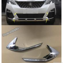 Lapetus Frontale Testa Nebbia Luci Fendinebbia Lampada Palpebra Sopracciglio Copertura Trim 2 Pcs Misura Per Peugeot 3008 3008GT 2017 2018 2019/ABS