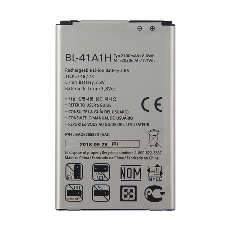Original High Capacity BL-41A1H <font><b>Battery</b></font> for <font><b>LG</b></font> Optimus F60 MS395 D390N Tribute VS810PP Transpyre LS660 <font><b>2100mAh</b></font> image