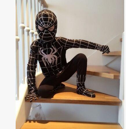 9c0568911350 svart spiderman spider-man spindel kostym för barn halloween kostymer för  pojkar