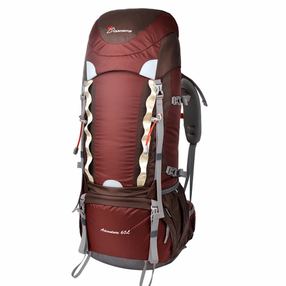 60l Internal Frame Long Haul Climbing Bag CR Carrying System Terylene Material Unisex Travel Camping Outdoor