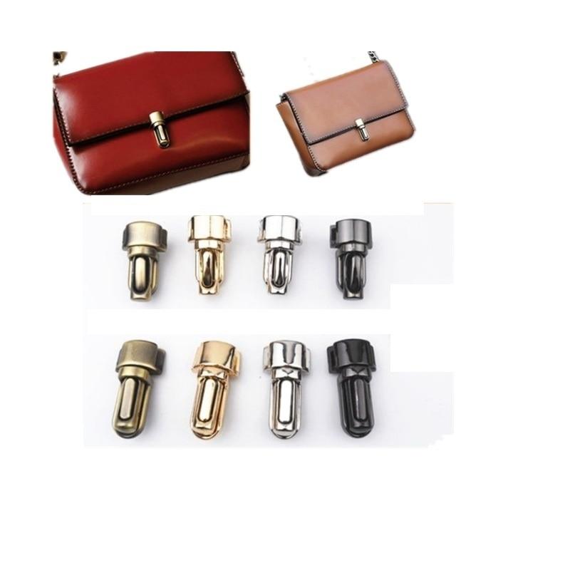 NEW Metal Clasp Snap Lock Twist Lock For DIY Handbag Bag Purse Hardware Closure 4 Color Hasp Buckle With Screw 10pcs/lot