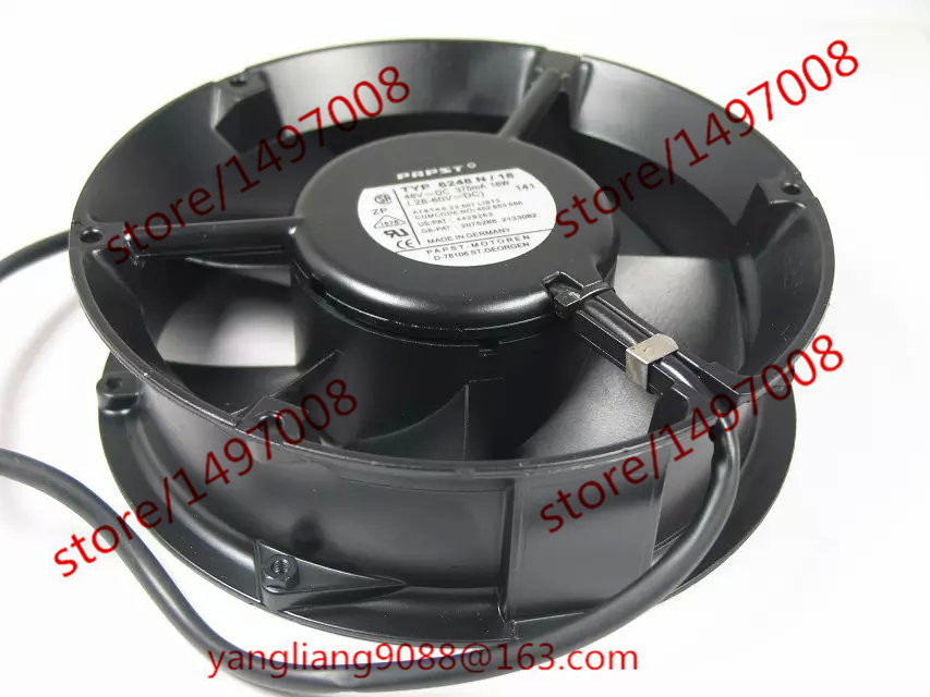 все цены на  Free Shipping For ebmpapst TYP 6248N/18 AC 48V 375mA 18W 5-wire   6-pin connector 60mm  Server Round Cooling fan  онлайн