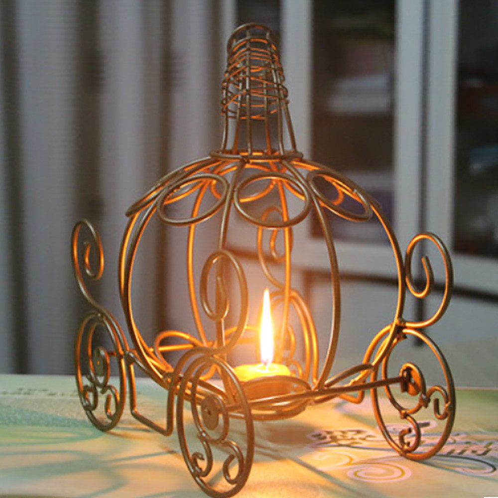 Halloween Iron Candlestick Pumpkin Car Candlestick lights Lamp Festival Decoration Candleholder Candle Tea Light Holder Decor