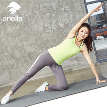 Tights Wicking Running Set Women Vest and Pants Sport Suit Training Tank Top Fitness Gym Polyester Tracksuit Yoga Sets