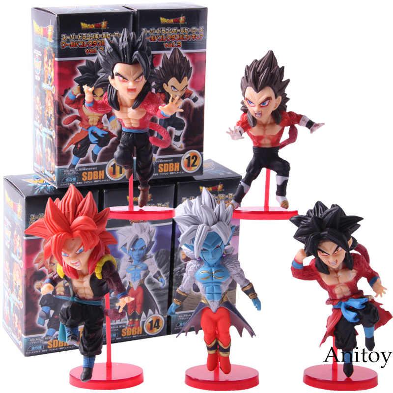 WCF Banpresto Dragon Ball Super 4 Heróis vol.3 Dragonball Super Saiyan Goku Gohan Vegeta Gogeta Action Figure Toys 5 pçs/set
