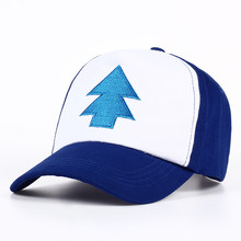 2017 New Cotton tree embroidery Gravity Falls U.S Cartoon Mabel Dipper Pines Cosplay Cool Baseball Caps Adjustable Sport Hat(China)