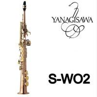 Янагисава S WO2 прямой трубы сопрано бемоль профессиональные позолоченный Sax с мундштуком Музыкальные инструменты