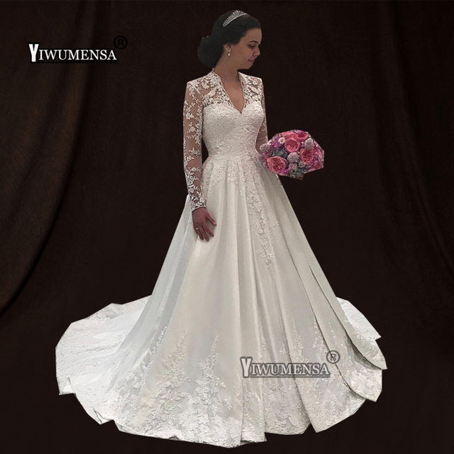 Robe De Mariee White Red Ivory Wedding Dress 2019 Custom Made Long Sleeves  Bridal Gowns Plus Size Wedding dresses vestido novia 6fdef3f64998
