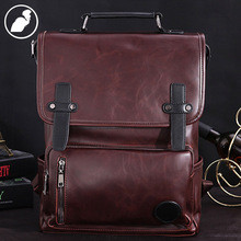 ETONWEAG New men brands Italian leather luxury new design laptop school bags brown big capacity casual preppy style backpacks