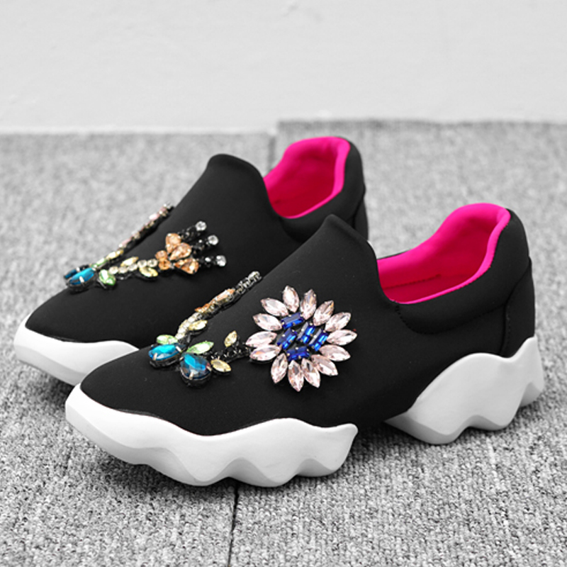 Sneakers Chaussures Chaude Sapato Femmes Coloré De Couleur Mujer Confortables as Mixte Show Zapatos Feminino Casual Show Appartements Bling Cristal Plate As forme 5Aq77wt