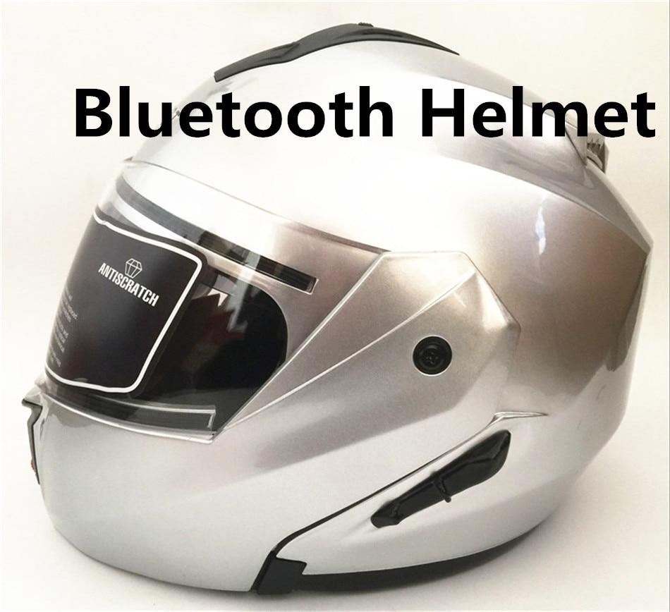 2018 new casco capacetes full face motorcycle helmet with bluetooth intercom headset flip up helmet dual lens DOT S M L XL XXL