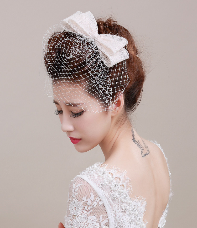 Vintage Wedding Hairstyles With Birdcage Veil: 2017 Vintage Wedding Bridal Hat Handmade Linen Birdcage