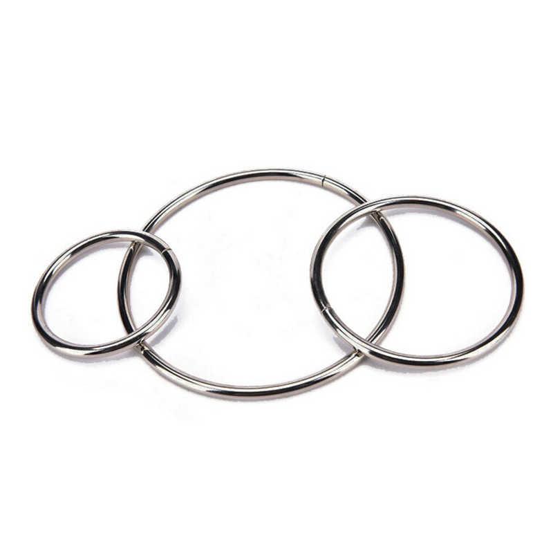 Многоразмерное простое круглое серебряное металлик металлический кольцо-обруч для DIY ручной работы плетеный инструмент запчасти материал аксессуары