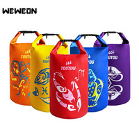 Stylish Constellation Printing Dry Bag Outdoor Waterproof Swimming Bag Swimsuit Storage Bags 15L Dry Bag for Wet Clothes