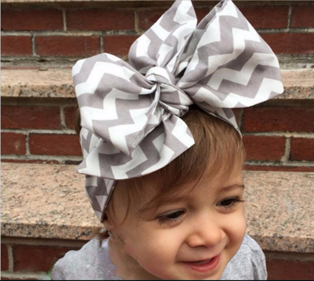 f5d33ab6762 Fashion Baby Girls Headwraps Top Knot Solid color big Bow Headband Children  Infants DIY Headwear Turban Girl Hair Accessories-in Hair Accessories from  ...