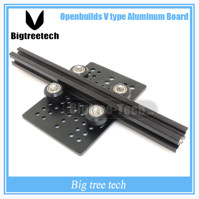 c-beam DIY Openbuilds Slider For v-slot t Gantry Plate Big  +Openbuilds Isolation Column+Plastic wheel with Bearings  Pulley