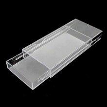 20 piezas de acrílico pestañas caja de embalaje de apertura diseño de cajón de pestañas caja de almacenamiento de las pestañas vacía caso organizador