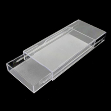 20pcs Acrylic Eyelashes Packing Box Slip Opening Drawer Design Eyelash Storage Box Cosmetic Eyelashes Empty Case Organizer