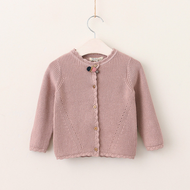 Baby Clothing Autumn 2017 Kids Girls Crochet Hallow Out Cardigan
