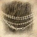 Горячая распродажа сеть филигрань круглый белчер застежка серебро длина 45 - 90 см для женщин классический подарок мода стиль сеть подвески