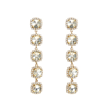 Shiny Crystal Long Dangle Earrings for Women 2019 New Arrival Korean Luxury Party Ear Jewelry EC1850