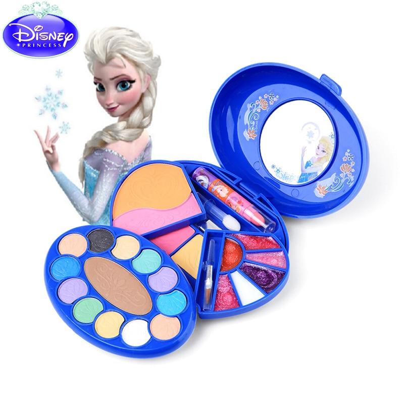 Disney Frozen Kids Makeup Girls Games Frozen Girls Makeup Children's Toy Birthday Party Gift Girl Toys Beautiful Makeup Box