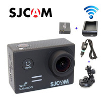 Free Shipping Original SJCAM SJ5000 WiFi Sport Action Camera Extra 1pcs Battery Battery Charger Car Charger