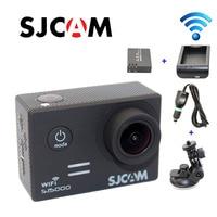 Бесплатная доставка! оригинальный SJCAM sj5000 Wi Fi спорт действий Камера + дополнительная 1 шт. Батарея + Батарея Зарядное устройство машины Заряд