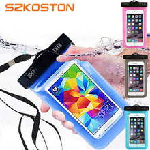 Clear Underwater Phone Bag Waterproof Shockproof Transparent Case Cover For iPhone 7 6S Plus SE 5S Samsung S6 S7 Edge Note 5