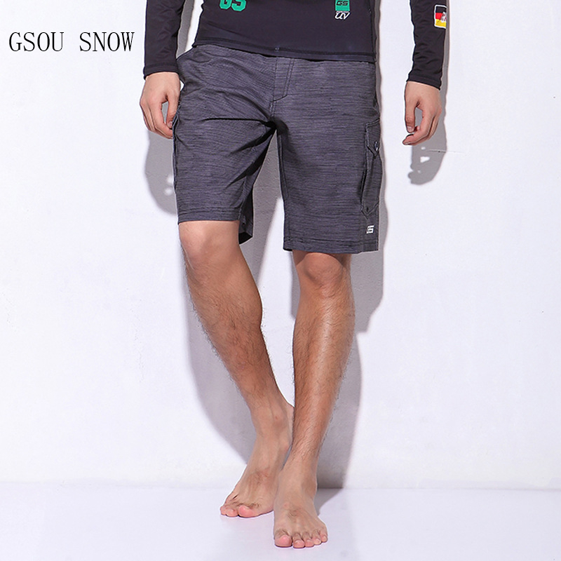 GSOU SNOW Men's Beach Quick-drying Breathable sunscreen ultra-light shorts Fitness running sports shorts camping pants