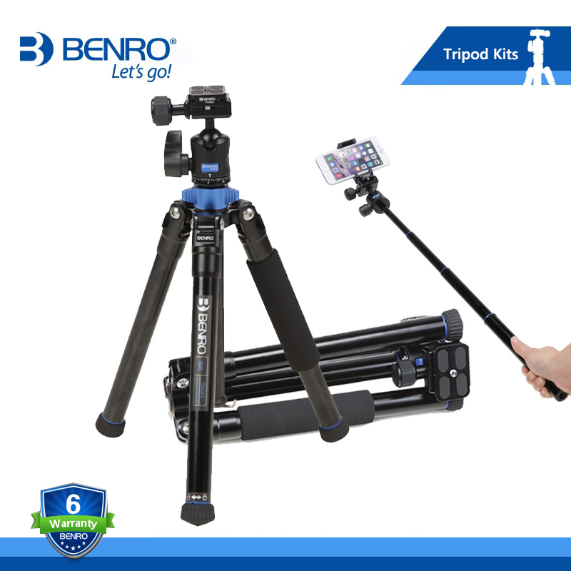 Free Shipping Benro tripods IS05 reflexed Self lever travel light tripod SLR digital camera portable handset head wholesale benro a38td foot aluminum alloy slr camera videotape alone racks one horned portable triangle frame free shipping