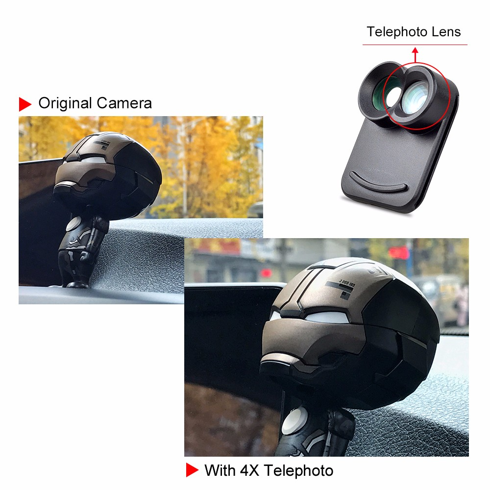 APEXEL Dual Lens fisheye wide angle macro telescope camera lens kit with back case For iPhone 7 plus 10