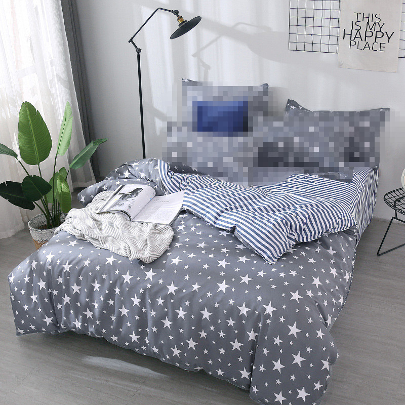Grey star duvet cover 1pc RU family quilts cover 150*200cm single size bedding home textile bedclothes geometry comforter cover