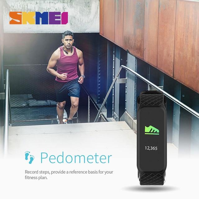 SKMEI Умные часы smartwatches сердечного ритма сна moniter калорий шагомер хронограф Цифровые наручные часы Для мужчин Relogio