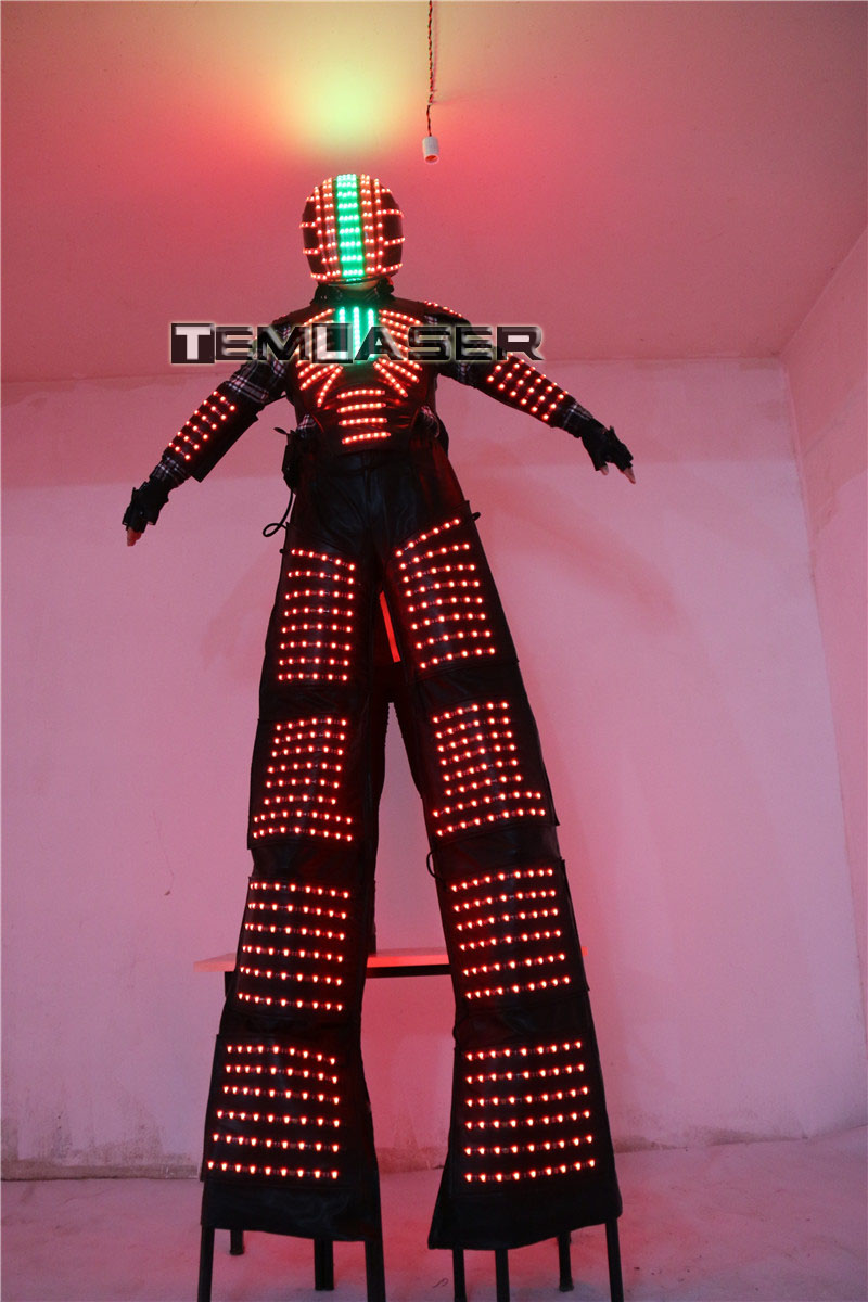 LED Luminous Robot Kostüm David Guetta Robot Suit Performance - Partyartikel und Dekoration - Foto 3