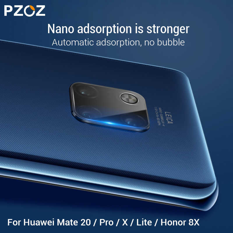 PZOZ For Huawei P20 P30 Honor 8X 9X Mate 20 Pro Lite X 20X Lens Film Camera Clear Tempered Glass Protective Camera Film 9H HD
