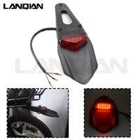 Universal Motorrad Licht Blinker LED Rücklicht Dirt Bike Stop Signal Für KTM EXC Yamaha WR YZ Kawasaki KLX KDX honda CRF auf