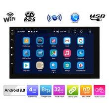 Универсальный 2 Din 7 «Восьмиядерный Android 8,0 Автомобильный мультимедийный плеер авторадио Сенсорный экран видео MP5 плеер Автомобильный BT4.0 OBDII
