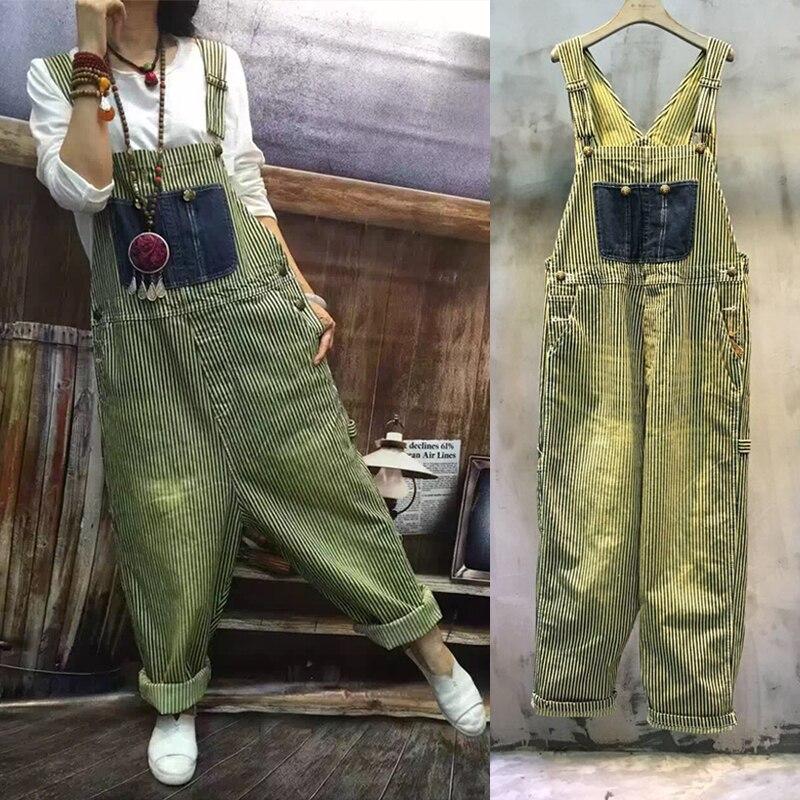 Darmowa wysyłka 2019 nowy nabytek luźne Plus rozmiar paskiem spodnie na szelkach spodnie na co dzień spodnie aplikacja kombinezon i pajacyki spodnie damskie spodnie w Kombinezony od Odzież damska na  Grupa 1