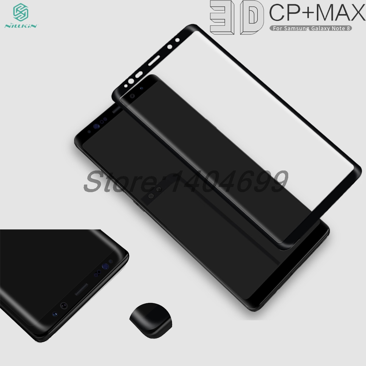 Screen Protector sFor Samsung Galaxy Note 8 Tempered Glass Nillkin 3D CP+ Max Full Cover Glass For Samsung Galaxy Note 8 Note8|glass for samsung|tempered glasstempered glass 3d - title=
