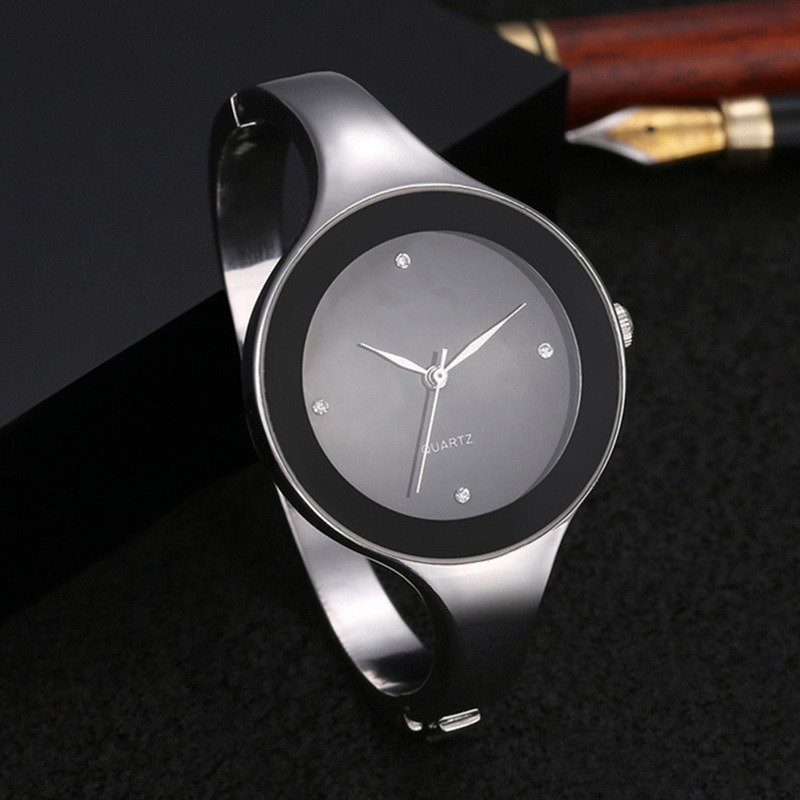 Women Quartz Bangle Watches New Design Relojes Stainless Steel Simple Female Rhinestone WristWatch Female Ladies Watch Hombre