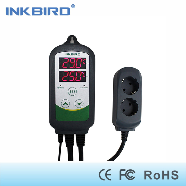Inkbird Thermostat Temperature Conreoller  ITC-308 LED Screen,Centigrade and Fahrenheit For Home-Brewing, Greenhouse and Reptile
