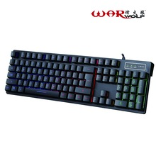 Professional V10 Wired Mechanical Keyboard 104 Keys Gaming For Computer Games With 3 Colors Change Backlight