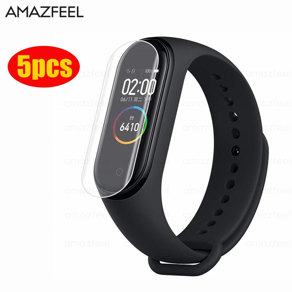 5Pcs For Xiaomi Mi Band 4 Screen Protector HD Ultra-Thin Anti-Scratch Soft Miband 4 Screen Protectors Film Not Tempered Glass