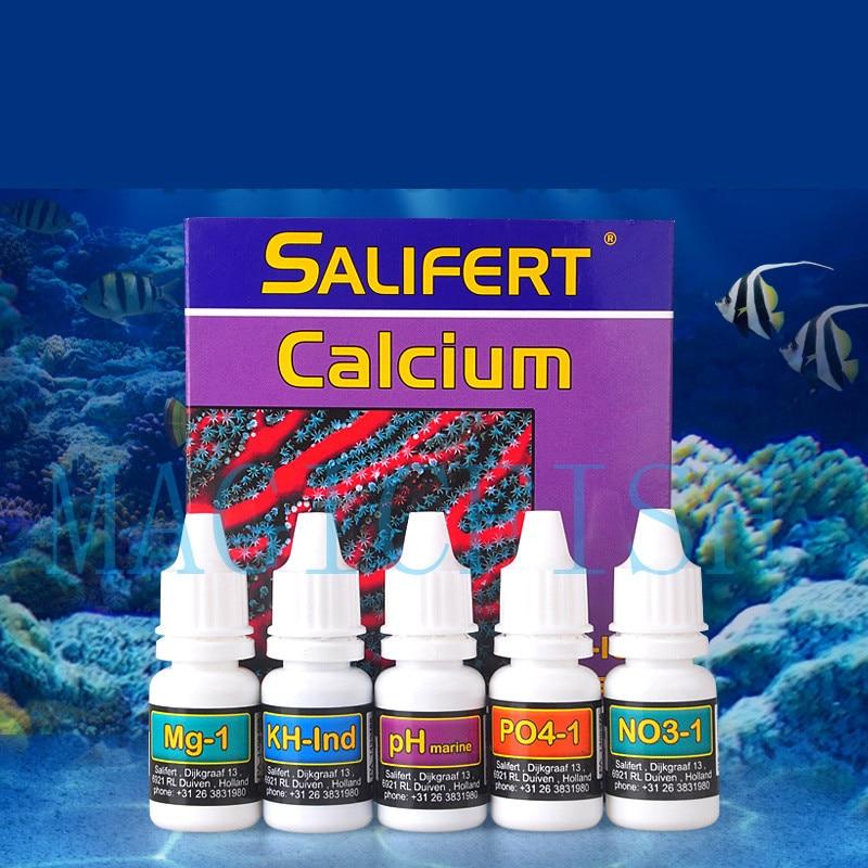 Salifert Test Kit Ca Calcium Cu I2 KH Mg NH4 Ammonia NO2 Nitrite NO3 Nitrate PH PO4 Sr Potassium Reef Marine Water Tank Aquarium