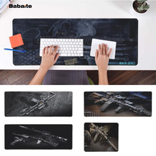 Babaite Cool New CS GO gun parts m14 AR-15 HK45 AK47 98K Laptop Computer Mousepad Free Shipping Large Mouse Pad Keyboards Mat