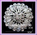 Bling Bling Clear Austria Crystals Snuflower Brooch For Women Silver Plated Alloy Party Costume Collar Pins Retail!!